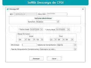 Interfaz de Descarga